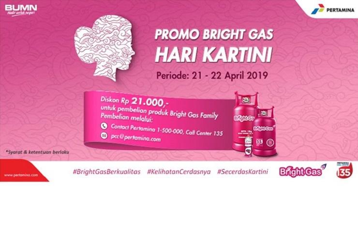 Hari Kartini 2019, Pertamina Bagi Diskon Produk Bright Gas Family