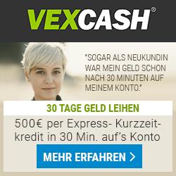 Vexcash - Kurzzeitkredite in 30 Minuten