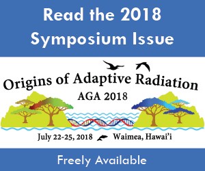 Origins of Adaptive Radiation. AGA 2018. Discover the 2018 Symposium Issue.